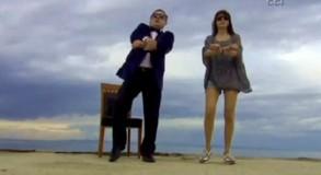 Bu da 'Kolbastılı Gangnam Style'